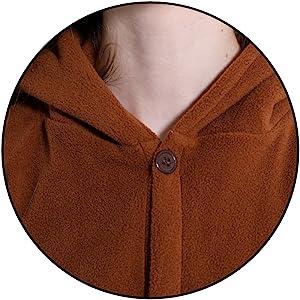 button design Details of adult unisex animal onesie costume