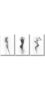 sexy canvas wall art nude erotic artwork black white female lady woman bedroom bathroom decor