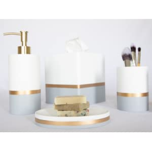 Day & Night Collection, bathroom accessories, white, toothbrush holder, soap dish, soap dispenser