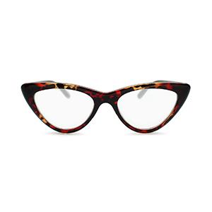 Cat eye reading glasses for women red tortoise shell