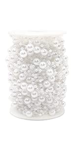 100 Feet Pearl Garland Roll of Beads Pearl Beads Chain Beaded