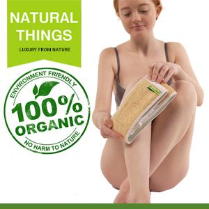 Natural bath loofah, best shower scrub strip, back scrub strip