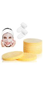 Cellulose Facial Sponge Compressed 50 Count Professional