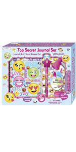 Cute Emoji Girls Diary Journal