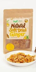 Soft Dried Ginger natural ginger organic ginger