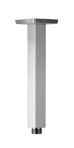 8 Inch Square Ceiling Mounted Shower Arm and Flange, nickel