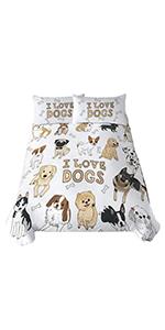 Sleepwish Pug Dog Bedding Set