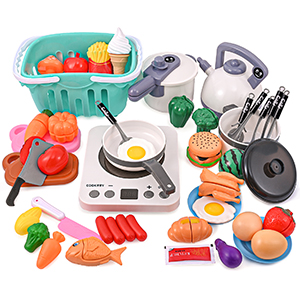 PRAABDC Kids Pretend Play Kitchen Accessories Set Toys