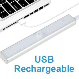 usb rechargeable portable magnetic adhesive sensing activated recharge display lights wardrobe light