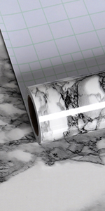 black and whtie marble contact paper