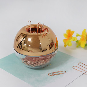 rose gold magnetic paper clip holder vogue for stylish woman