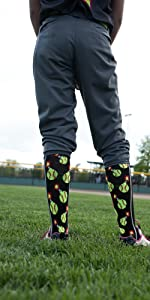 Bomber Softball Socks