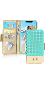 iPhone 11 Wallet Case with Mirror for 6.1 inch
