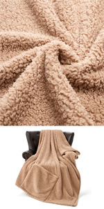 Khaki Throw Blanket