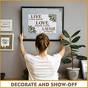 Home Decor Wall Hangings - Stencil Designs for Wood with Love Stencils Decor