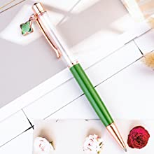 green crystal empty tube floating pen