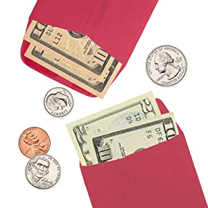 red number 7 coin envelope money