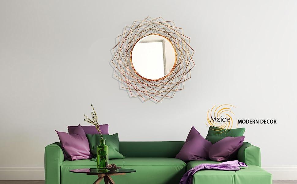 Geometric Metal Wall Mirror