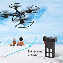 Enjoy flying time with rechargeble battery