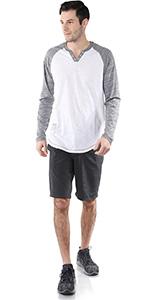 3/4 sleeve casual activewear streetwear ootd henley leisure baseball basketball football hoodie