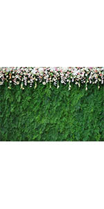 7x5FT Wedding Photography Backdrop Flowers Green Leaf Bridal Shower Props Party