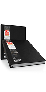 ARTZ-8141_Hardcover_Drawing_Book_8.5x11_Hardbound_Pad_2_Pack