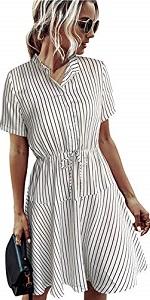 Button Down Striped Dress