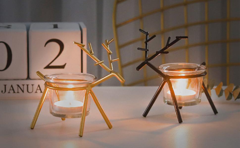 Reindeer Candles Holder