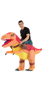 Hsctek Inflatable Dinosaur Costume for Adults with Sound …