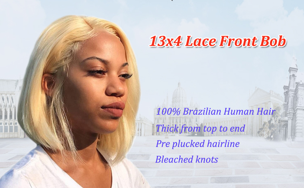 human hair lace front bob