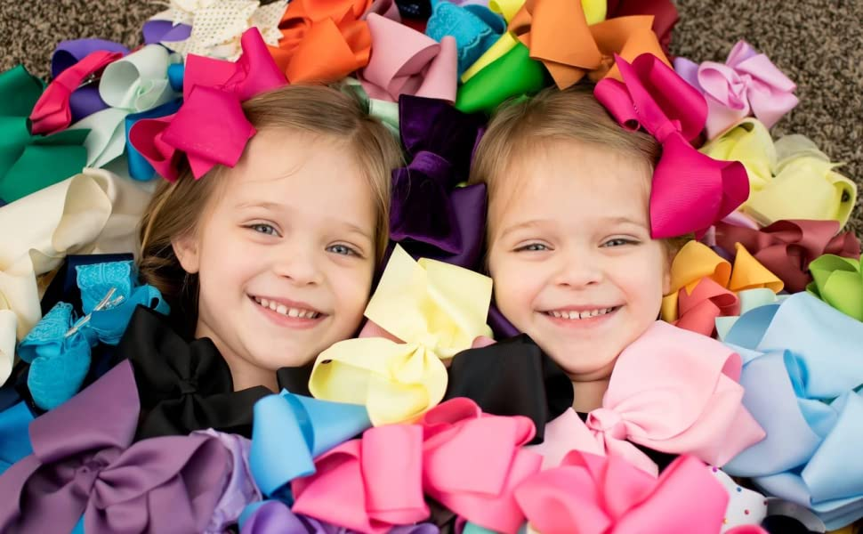 headbands for girls Girls Boutique Grosgrain Ribbon Headbands with Bows