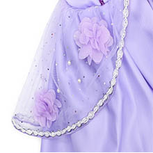 purple dresses for little girls costume princess party outfits HB006+P002-4