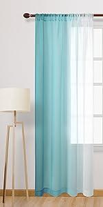 Teal sheer Curtains