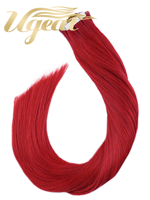 red tape in hair extensions human hair,red hair color,tape on hair extensions human hair
