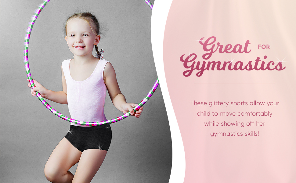 girls gymnastics shorts black booty shorts dance girls metallic gymnastics shorts cheer cheering