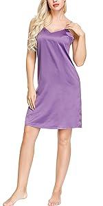 Satin Chemise Dress