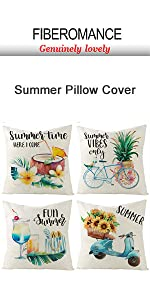 clue bicyle sunflower pillow cover
