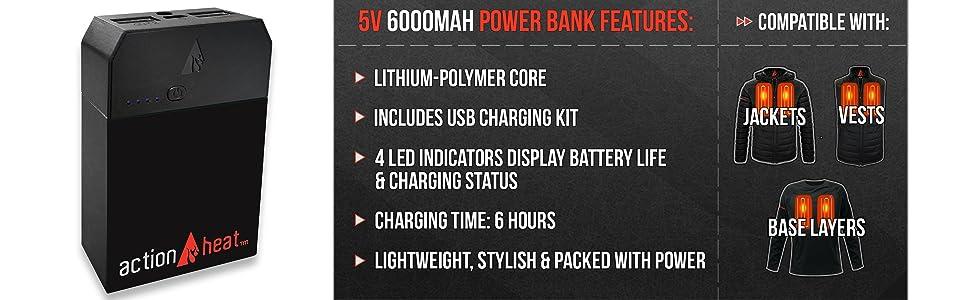 6000 mah, powerbank, battery,