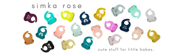 simka rose silicone baby bibs toddler bibs suction plates carseat covers