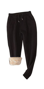 Sherpa Lined Tapered Sweatpants