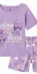 Girls Owl pajamas