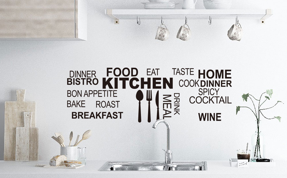 Kitchen Food Cook Bonappetite Vinyl Wall Stickers Decals Quotes Saying Home Decoration Art Decor