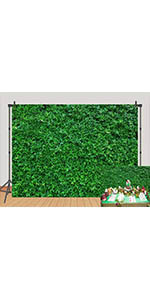 Nature 3D Green Lawn Leaves Photography Backdrops Grass Floor Photo Background