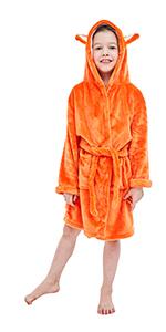 fox bathrobe