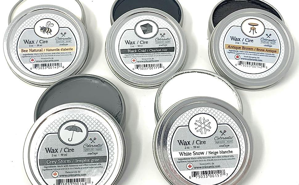 furniture wax beeswax waxes brush round grey clear natural black grey gray brown dark white sloan