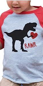 dinosaur valentines day shirt for boys