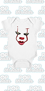 Pop Threads You'll Float Too Loser Lover Horror Scary Clown Infant Baby Boy Girl Bodysuit