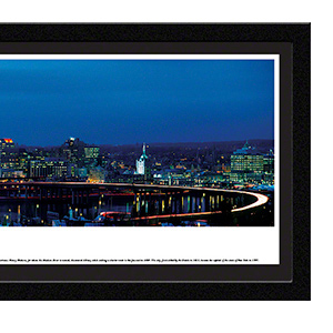 Albany at twilight with select frame