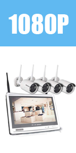 Wireless Security Cameras With LCD Monitor