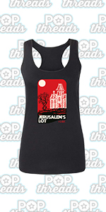 Stephen King Rules Horror Movie Book Merchandise Fashion Tank Top Tee for Women